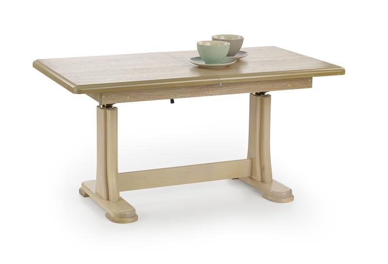 Журнальний стіл TYMON дуб сонома (125(164)х65х60(75)) Halmar