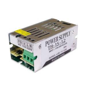 Блок питания 15W для светодиодной ленты DC12 1,25А TR15-12 металлический