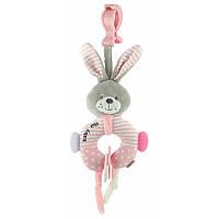 Подвеска плюшевая  Baby mix Кролик Pink