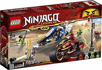 LEGO 70667 NINJAGO Мотоцикл-клинок Кая та снігохід Зейна 376 дет (ЛЕГО Мотоцикл-клинок Кая и снегоход Зейна)