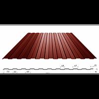 Профнастил с полимерным покрытием С-8,толщина 0.3