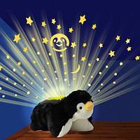 Проектор-ночник детский звёздное небо Пингвин.
