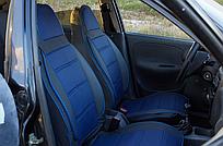 Чехлы на сиденья Шкода Фабия (Skoda Fabia) (универсальные, автоткань, пилот)