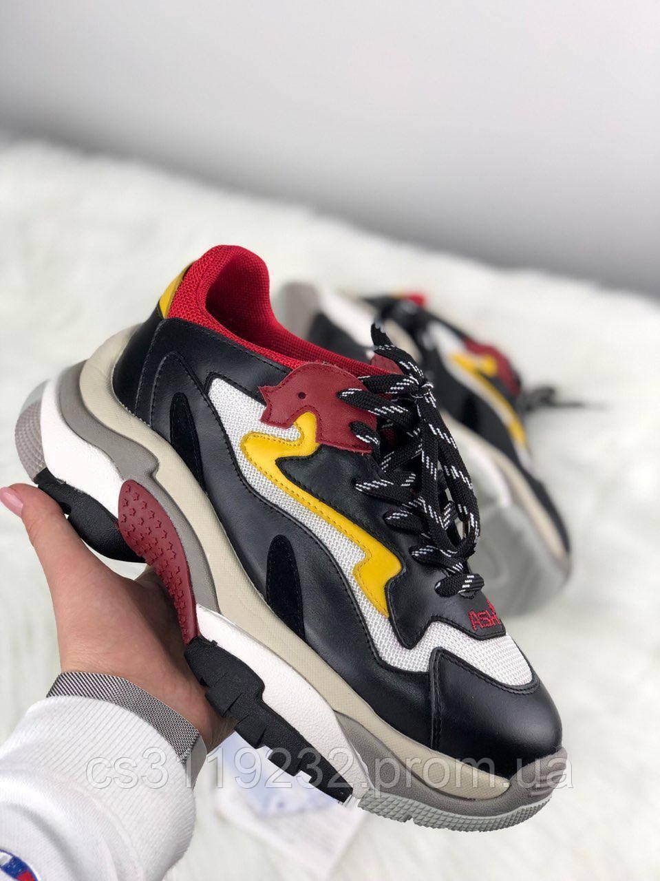 Женские кроссовки Addict Sneakers Black Red White (черный/красный/белый)