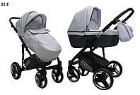 Детская универсальная коляска 2 в 1 Mikrus Zara 21 св. графит ткань