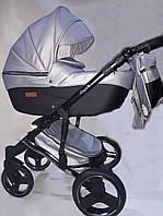 Детская универсальная коляска 2 в 1 Mikrus Onyx 49-A серебро+черн
