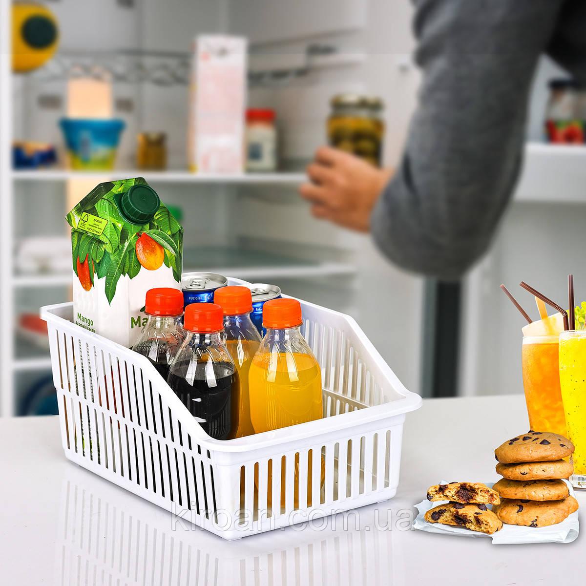 Пластиковый лоток для холодильника 5,5л (белый,прозрачный,серый)