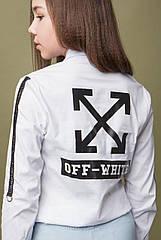 Блуза модная Off-White для девочек ТМ Madlen Размеры 134- 164