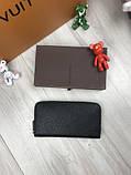 Стильный мужской кошелек на молнии Louis Vuitton черный Премиум Качество бумажник Трендовый Луи Виттон копия, фото 5
