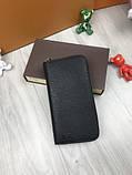 Стильный мужской кошелек на молнии Louis Vuitton черный Премиум Качество бумажник Трендовый Луи Виттон копия, фото 6