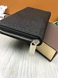 Стильный мужской кошелек на молнии Louis Vuitton черный Премиум Качество бумажник Трендовый Луи Виттон копия, фото 7