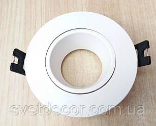 Встраиваемый светильник Feron DL0375 GU5.3 MR-16 точечный поворотный белый круг