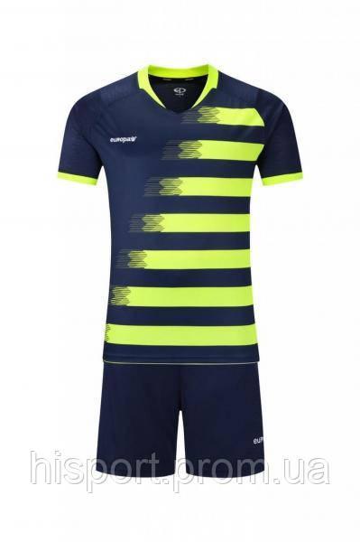 Игровая футбольная форма для команд т.сине-салатовая 021 Europaw