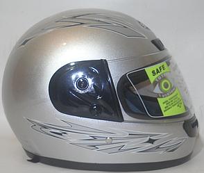Мотошлем Helmets Shunda (серый) + подшлемник теплый