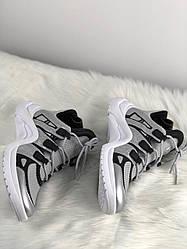 Женские кроссовки Louis Vuitton Arclight Silver White (серебристо-белые)