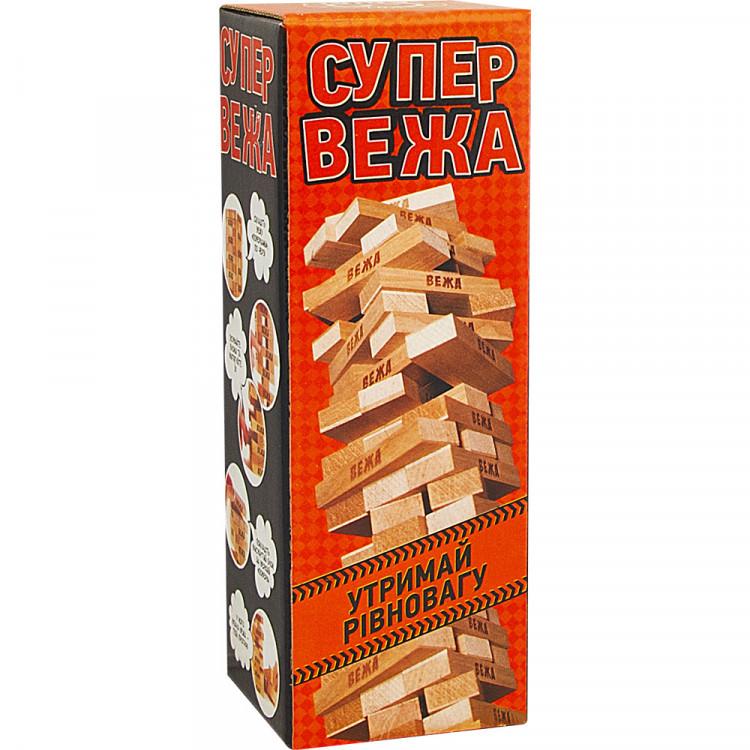 """Настольная игра Arial """"Супер вежа"""", деревянная, 910114"""