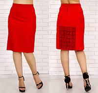 Женская юбка с кружевом . код 199 Б (48)