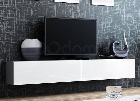 Тумба ТВ VIGO CAMA Серый матовый/Белый глянец, фото 2