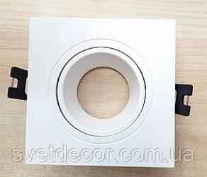 Встраиваемый светильник Feron DL0380 GU5.3 MR-16 точечный поворотный белый квадрат
