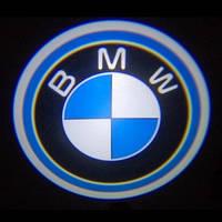 Светодиодная дверная LED подсветка с логотипом  BMW