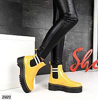 Демисезонные лаковые ботиночки женские кожаные. Харьков