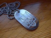 Армейский жетон алюминий 45х26х2,0 Герб Украины