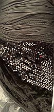 Ткань Пайетка На Бархате (Черный)
