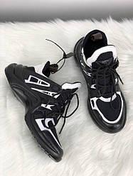 Женские кроссовки Louis Vuitton Arclight Black White(черно-белые)