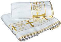 Крыжма для крещения Baby-Tex 140х70 см (белая/золото)