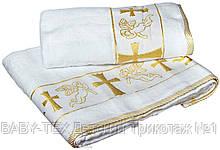 Крижма для хрещення Baby-Tex 140х70 см (білий/золото)
