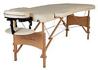 Массажный стол складной 2 секции шириной 60 см NEL, кушетка для массажа