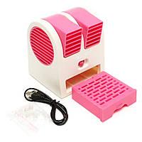 Мини-кондиционер вентилятор Mini Fan UKC HB-168, Розовый