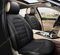 Чехлы на сиденья Субару Форестер (Subaru Forester) (универсальные, экокожа Аригон)
