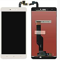 Дисплей (экран) для Xiaomi Redmi Note 4X + тачскрин, белый, оригинал