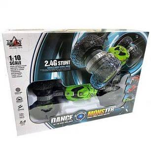 Машинка на радиоуправлении трансформер Dance Monster 2028 Зеленая, фото 2