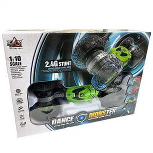 Машинка на радіоуправлінні трансформер Dance Monster 2028 Зелена, фото 2
