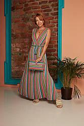 Длинное платье в полоску PHO FIRENZE
