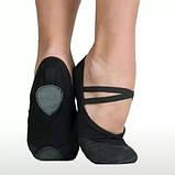 Детские балетки черные, чешки для танцев Baby-tex размерах., фото 3