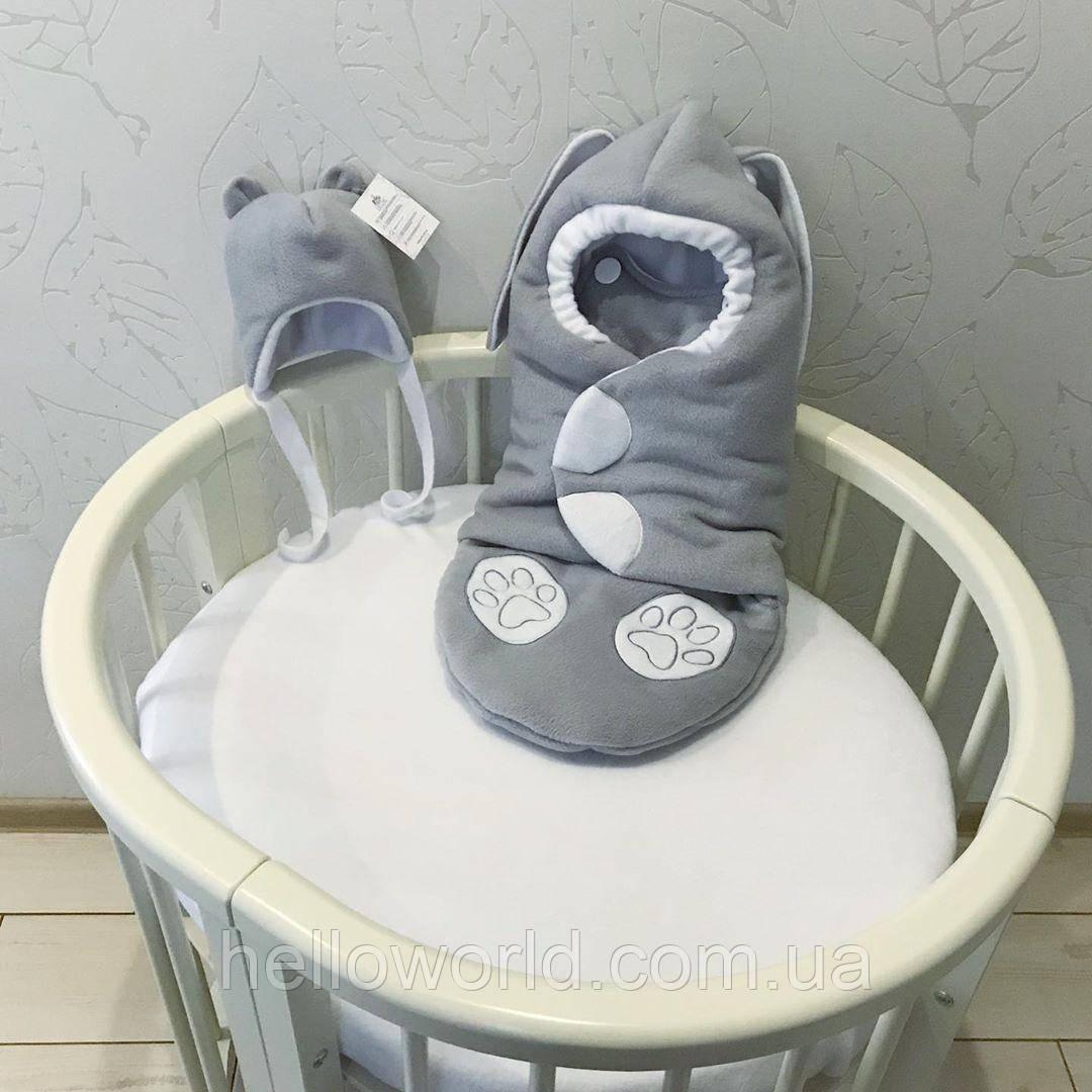 Комбинезон-кокон светло-серый Заяц