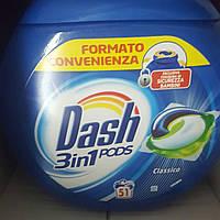 Гель-капсулы для стирки Dash PODS 3in1 Classico Универсальные, 51 шт