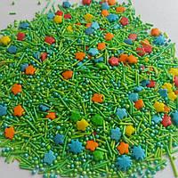 Посыпка сахарная кондитерская Трава и цветы 500 грм