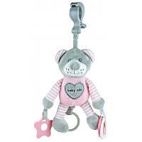 Плюшевая игрушка - подвеска с вибро Baby mix Мишка pink