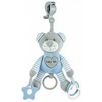Плюшевая игрушка - подвеска с вибро Baby mix Мишка blue