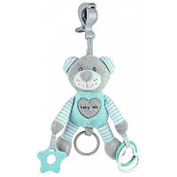 Плюшевая игрушка - подвеска с вибро Baby mix Мишка mint