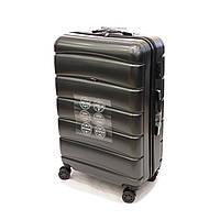 Пластиковый большой чемодан на колесах 105 л Wings графит