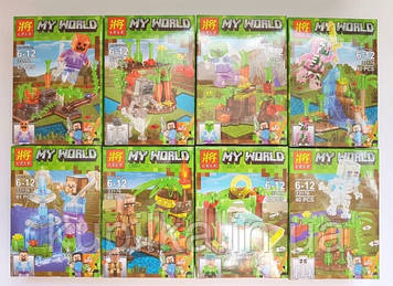 Конструктор Lele Minecraft 33176 My World (Цена за блок 8 шт) 40 деталей