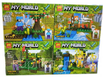 Конструктор Lele Minecraft 33134 My World (Цена за блок - 4 шт)