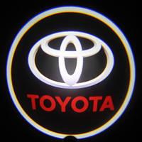Светодиодная дверная LED подсветка с логотипом  TOYOTA