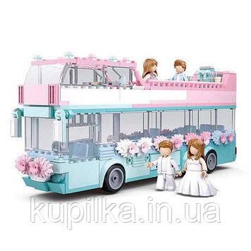 Конструктор Sluban M38-B0769 Свадьба, автобус, посуда, фигурки, 379 деталей