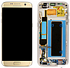 Дисплей (экран) для Samsung G935F Galaxy S7 Edge + тачскрин, золотистый, с передней панелью, OLED
